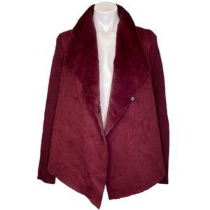 NEW YORK & COMPANY FAUX SUEDE MOTO JACKET
